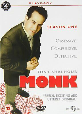 MONK COMPLETE SERIES 1 DVD Box Set Season New and Sealed 1st First UK R2