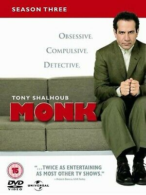 MONK COMPLETE SERIES 3 DVD Box Set Season New and Sealed 3rd Third UK R2
