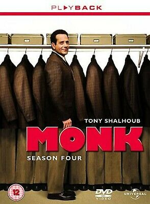 MONK COMPLETE SERIES 4 DVD Box Set Season New and Sealed 4th Fourth UK R2