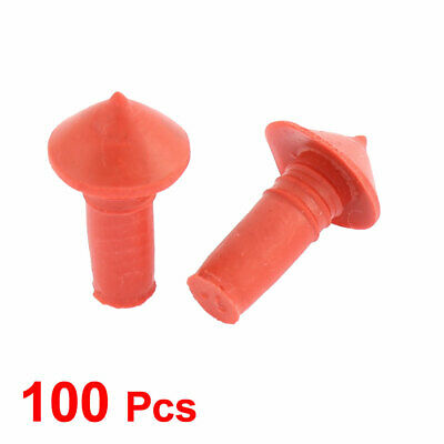 Orange / Black Mushroom Tire Repair Insert Plugs 7mm Plug Rubber Pack Of 100 pcs