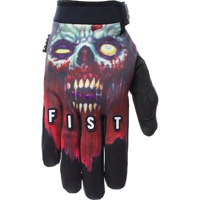NEW Fist Handwear MX Logan Martin Undead Black Strapped MTB BMX Motocross Gloves