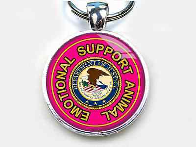 Service dog Emotional Support Animal HOT PINK pet TAG 2 different sizes availabl