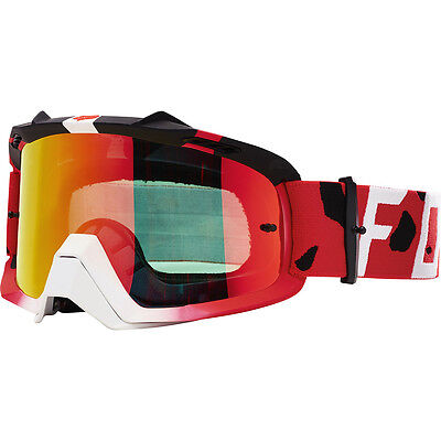 NEW Fox Racing 2017 MX Air Space Grav Red Dirt Bike Tinted Motocross Goggles