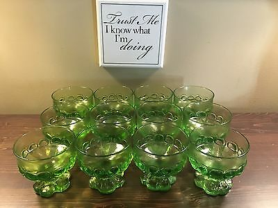 Tiffin Franciscan Madeira Clover Green Champagne Sherbets