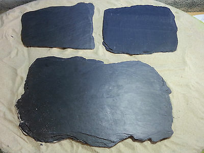 Fennstones large XL flat loose real natural rock slate pieces aquarium vivarium