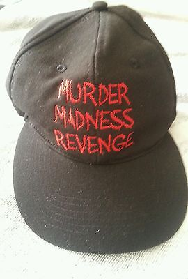 """The Devil's Rejects Rob Zombie Black Promotional Hat """"Murder,Madness,Revenge"""""""