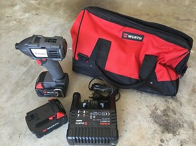 Wurth 18V 4.0Ah Impact Drill, 2 Batteries, Charger And Carry Bag (value $899.00)