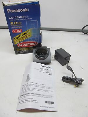 REPLACEMENT CHARGER BASE ONLY for Panasonic KX-TGA670B Black Cordless Handset