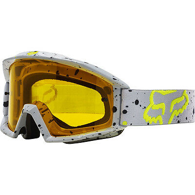 NEW Fox Racing MX 2017 Main Nirv Grey Yellow Tinted Dirt Bike Motocross Goggles