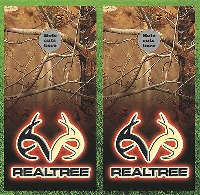 Deer Hunting Realtree Cornhole Wrap Decals Bag Toss 3M Vinyl 24x48 Fast Shipping