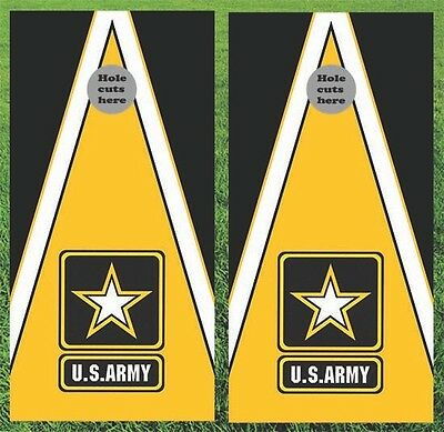 "Army Military Cornhole Wrap Decals Bag Toss 3M Vinyl 24x48"" Fast Shipping"