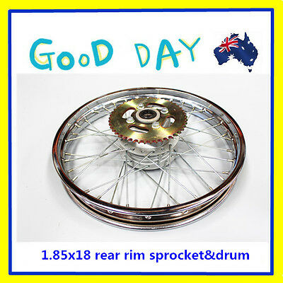 """18"""" Inch 1.85 x 18'' Rear Rim wheel with Sproket  for Trail Pit Dirt Bike"""