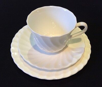 Wedgwood Candlelight White Cup Saucer Plate Trio Bone China Made In England