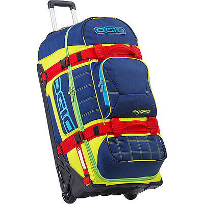 NEW Ogio MX 9800 RIG De Luge Navy Travel Bag Luggage Wheeled Motocross Gearbag