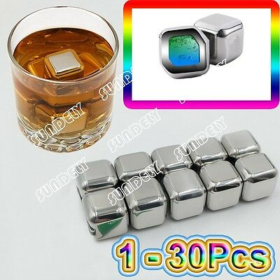 Australia Stainless Steel Chilling Ice Cubes Reusable For Whiskey Wine Beverage