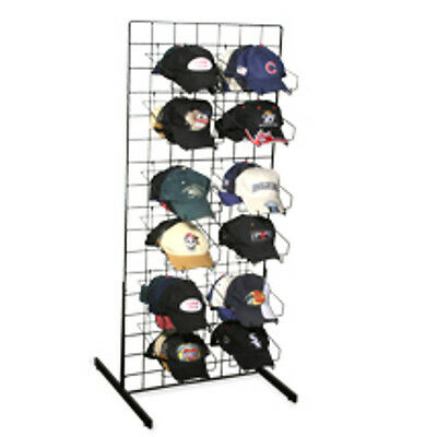 New Impulse Baseball Cap Hat Rack Floor Standing Display Black Powder Coated