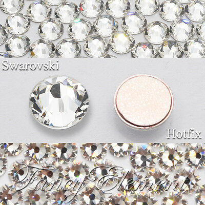 Clear (001) (Hotfix) ss3-ss48 Swarovski Flatback Rhinestone Hot Fix Crystal Gems