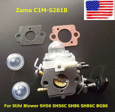 New Carburetor For Stihl Blower SH56 SH56C SH86 SH86C BG86 C1M-S261B 42411200616