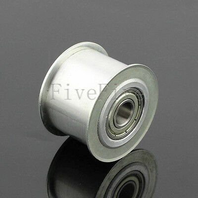 8/10mm Hole Smooth Idler Pulley With Bearing 15/20mm Width HTD 5M 3M Timing Belt