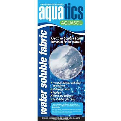 Water Soluble Fabric Aquasol Cold Water Disolvable 1m x 50cm wide Pack NEW