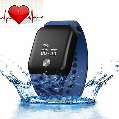 Waterproof Fitness Bluetooth Smart Watch Band Blood Oxygen/Heart Rate Monitor BE
