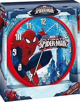 Marvel Red & Blue Ultimate Spiderman Wall Clock Age 3+