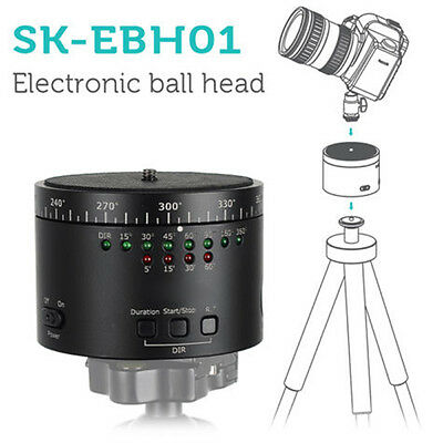 360° Rotating Tripod Head Time Lapse Stabilizer For GoPro Smartphone SK-EBH01 IT