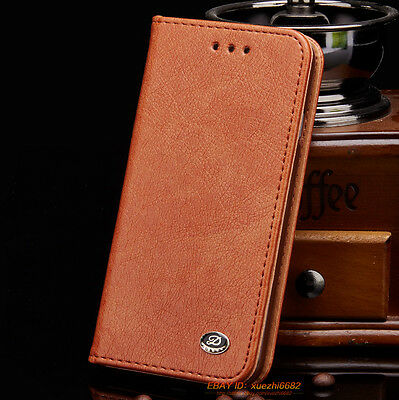 Leather Executive Wallet Flip Case Cover Card Pouch For iPhone SE 5 6 6s 7 Plus