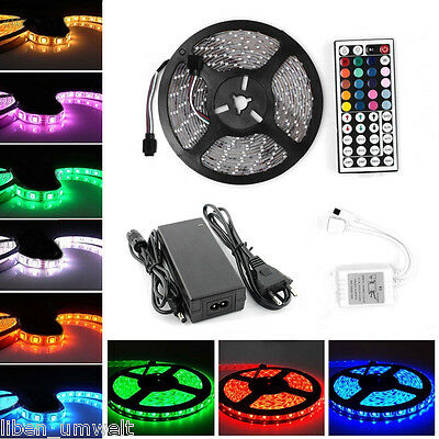 1m-30m LED RGB SMD 5050 30/60 LED Streifen Strip Band Leiste + Controller+ Trafo