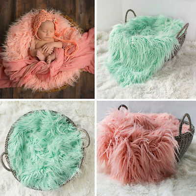 Newborn Baby Costume Soft Blanket Rug Photo Photography Prop Backdrop Outfit BN