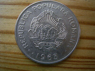 1960  Romania 15 bani coin collectable
