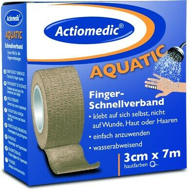 Actiomedic® AQUATIC Schnellverband 3 cm x 7 m Hautfarben selbsthaftend Pflaster