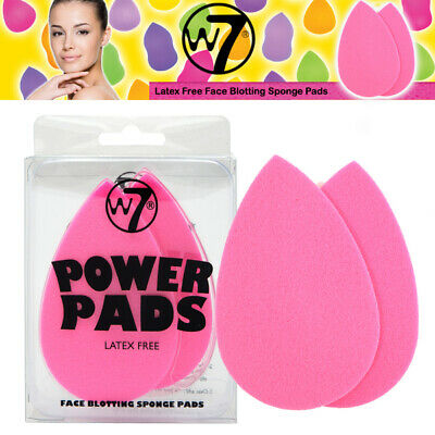 W7 Makeup -  Power Pads Latex Free Facial Face Oil Blotting Sponge Pads