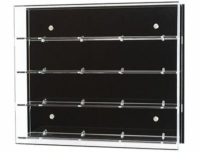 Acrylic Wall Display Cabinet, Choice of 3, 4 or 5 Shelves