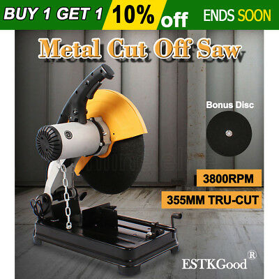 355mm Metal Cut Off Drop Saw Electric Saw Chop Demolition Industrial Cutting OZ