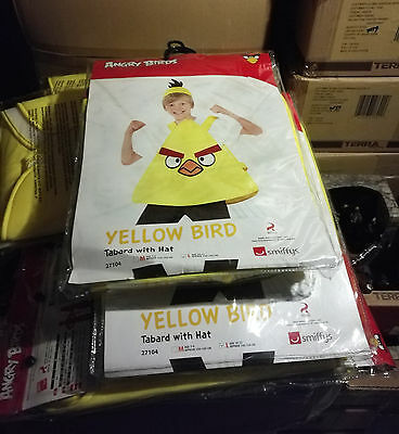 12 x Wholesale Joblot Smiffy's Angry Bird Kids Fancy Dress Pig Costume Yellow