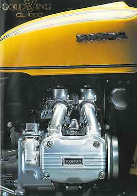 1976 Honda GL1000 Gold Wing  4 page Motorcycle Brochure NCS