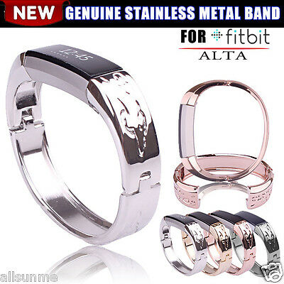 Genuine Stainless Steel Metal Band Strap Jewelry Bracelet Bangle For Fitbit Alta