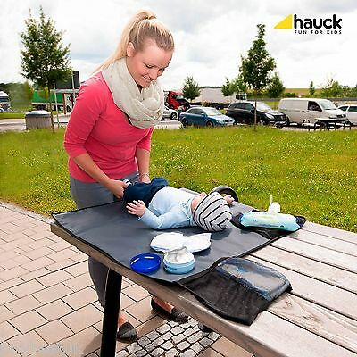New Hauck Black Change Me Travel Changing Mat Padded Portable Baby Nappy Changer