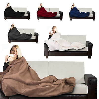 Electric Heated Blanket Throw Over Soft Fleece Washable Polyester Warm Mattress