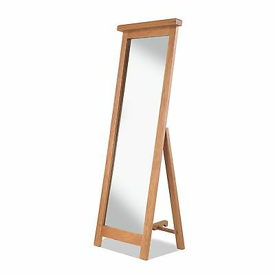 Tuscany solid oak bedroom furniture full length cheval mirror