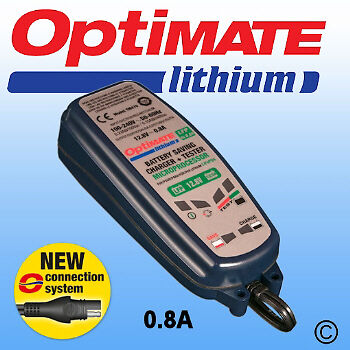 Optimate Lithium 12.8V 0.8A Motorcycle  Battery Charger & Conditioner