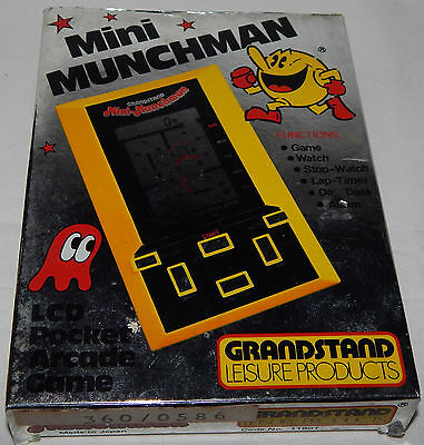 Vintage Mini Munchman (Pacman/pac-Man) Grandstand Lcd Handheld Game In Box/boxed
