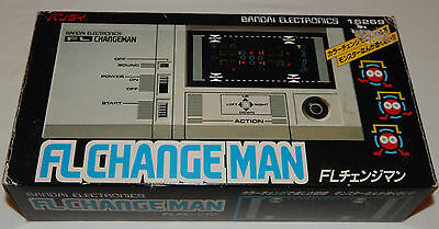 Vintage Change Man Fl/lsi/vfd Handheld/tabletop Game By Bandai In Box/boxed/nos
