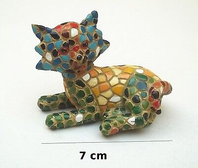 superbe chat style Gaudi,Barcelone,artiste,décoraton,collection