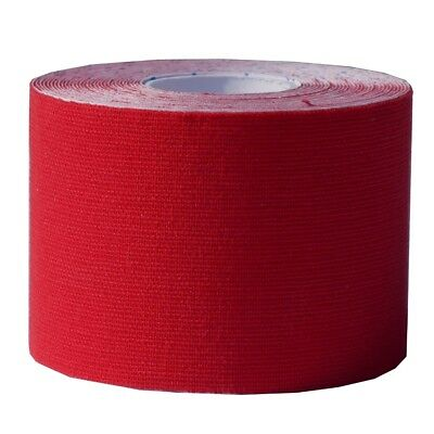 5 Rollen Kinesiologisches Tape - 5 cm x 5 m - rot - Reha - Sport - Physio