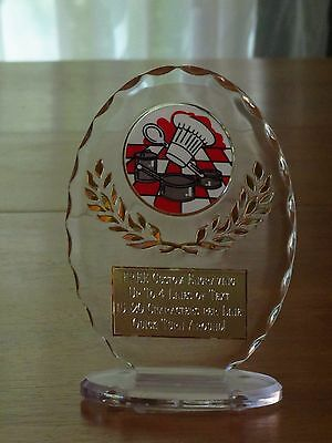 """Cooking/Soup/Chili Cookoff/Baking 6 1/2"""" Acrylic Award Trophy FREE engraving"""