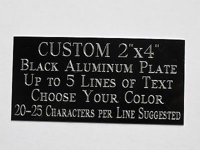 "Custom Engraved Plate Aluminum 2""x4"" Custom Name Plate Plaque Art Label Tag Gift"