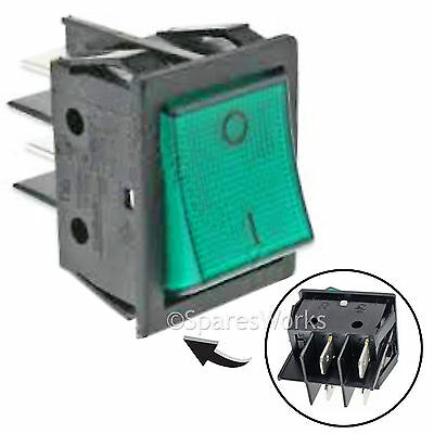LINCAT WARMER HEATED DISPLAY BAR Genuine SW69 Green Neon On Off Rocker Switch