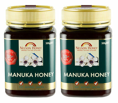 Nelson Manuka Honey - MG 30+ - 2 x 500g (1kg Pack) TWIN PACK